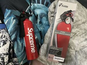 New Supreme Fire Extinguisher Kidde Red White Box Logo Ss15 Accessory Authe