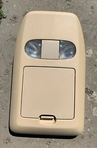 04 08 Ford F150 Overhead Console Map Dome Light Storage Front Section Tan