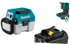 Makita Xcv11z 18v Lxt Brushless 2 gal Hepa Filter Portable Wet dry Dust