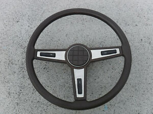 81 82 83 Toyota Hilux Pickup Truck Steering Wheel Brown Horn Pad Oem Trim Bezel
