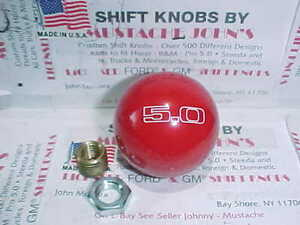Mustang 5 0 Custom Engraved Ford Licenced Shift Knob red 2