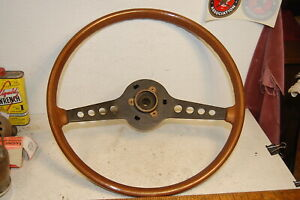 Fiat 124 Spider Simulated Wooden Steering Wheel Oem Used