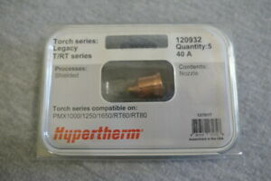 New Hypertherm 120932 Nozzle 5 Pack For Pmx1000 1250 1650 Rt60 Rt80 40 A