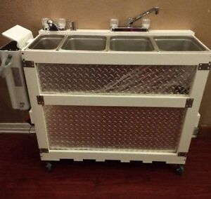 Large Portable Concession Sink 3 Compartment 1 Hand Wash used