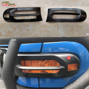 Abs Black Car Front Fog Light Turn Lamp Cover Trim For Toyota Fj Cruiser 07 14