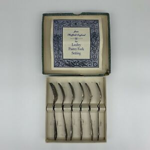 The Loxley Pastry Fork Setting Sheffield England Set Of 6 Silver Plated Vintage