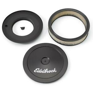 Edelbrock 1203 Signature Series Black Air Cleaner Assembly 2 Inch