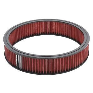 Edelbrock 43666 Pro Flo High Flow Air Cleaner Assembly Round 3x14 Red