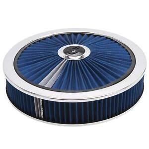 Edelbrock 43661 Pro Flo High Flow Air Cleaner Assembly Round 3in Blue