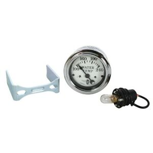 Stewart Warner 82477 Wings Electric Water Temp Gauge White