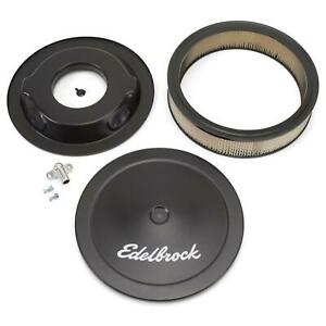 Edelbrock 1223 Signature Series Black Air Cleaner Assembly Round 3 In