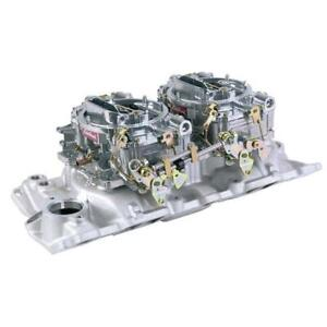 Edelbrock Small Block Chevy Dual Quad Set up