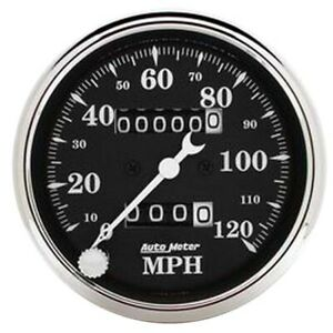 Autometer 1796 Old Tyme Black Mechanical Speedometer 3 1 8 Inch