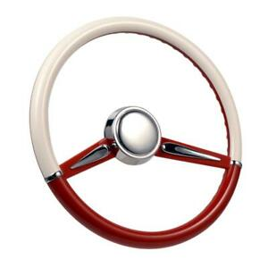 Con2r Sw2spoke Red Two Tone Twin Spoke Steering Wheel Red And White