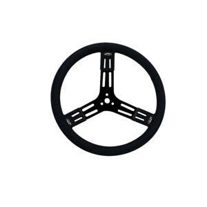 Longacre 52 56841 15 In Steel Steering Wheel Black Smooth