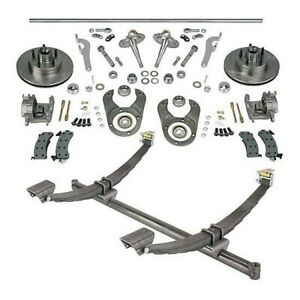 48 In Gasser Ford Axle spindle brake Kit 5 4 75 Gm chevy Bolt Pattern