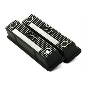 Holley 241 83 Sb Chevy M T Valve Covers Satin Black Cast Aluminum