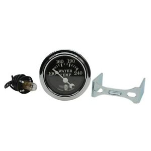Stewart Warner 82478 Wings Electric Water Temp Gauge Black