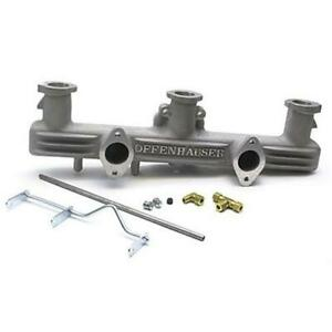 Offenhauser Chevy 216 235 261 Inline Straight 6 Dual Carb Intake Manifold