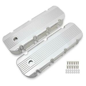 Mr Gasket 6833g Finned Fabricated Aluminum Valve Covers 396 454 Bbc