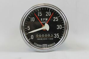 Stewart Warner Electric Vintage Tachometer 3500 Rpm Diesel Truck Hot Rod Gasser
