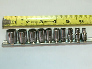 Snap On Tools 1 4 Drive Sae Shallow Socket Set 3 16 To 9 16 11pc