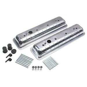 Technostalgia Chevy Oldsmobile Style Valve Covers Chrome