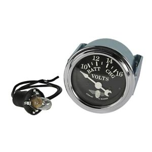 Stewart Warner 82482 Wings Voltmeter Gauge Black