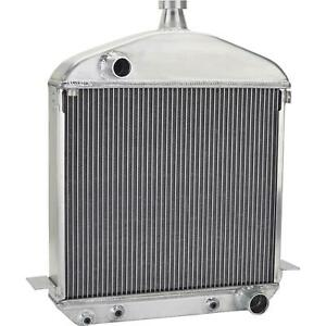 Speedway 1917 1923 T Bucket Buffed Aluminum Radiator Chevy Outlets