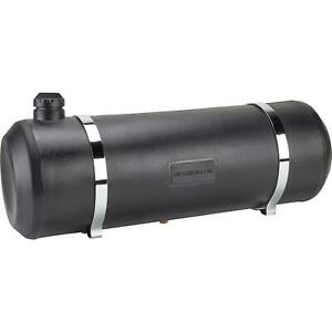 Speedway Motors Black Poly Round Drum Fuel Tank Cell 10 Gallon 10 X 30 Inch
