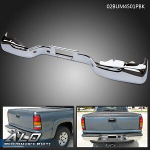 For 1999 2006 Chevy Silverado Gmc Sierra 1500 Rear Step Bumper Face Bar
