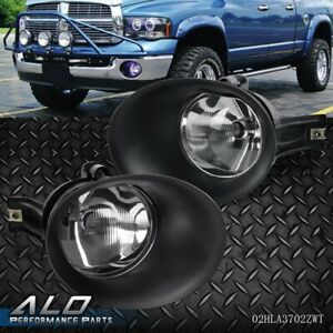 For 02 08 Dodge Ram 1500 03 09 2500 3500 Bumper Fog Lights Driving Lamps Bezel