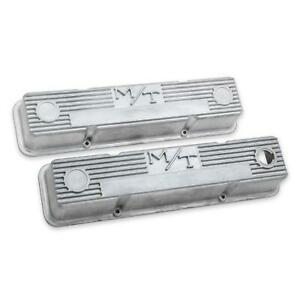 Holley 241 86 M T Valve Covers Sbc Natural Cast Finish
