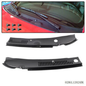 2pc New Windshield Wiper Cowl Vent Grille Panel Hood For 1999 2004 Ford Mustang