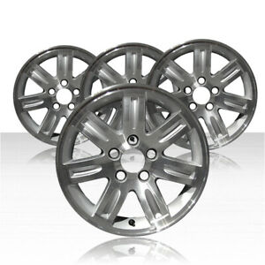 Revolve 16x6 5 Machined And Silver Wheel For 2005 2008 Honda Element Set Of 4