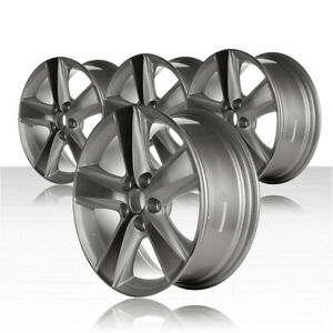 Revolve 17x7 Machined And Silver Wheel For 2010 2011 Toyota Camry Set Of 4