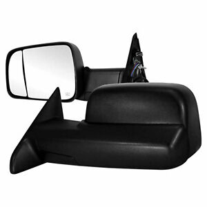 Premium Fx Manual Tow Mirrors W Temp Sensor For 2013 Dodge Ram W Towing Mirrors