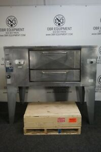 Bakers Pride Super Deck Natural Gas Pizza Oven Model D 125 New Stones Included