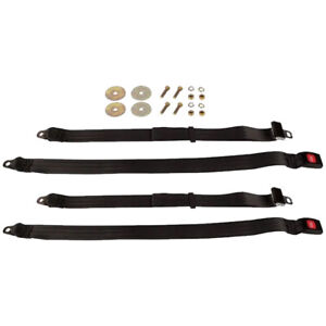 Beams Push Button Adjustable Lap Seat Belt Dot Approved 2 Pack