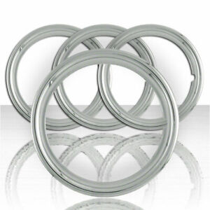 Set Of Four 14 Ss 1 1 2 Deep Wheel Trim Rings Stainless Steel Retention