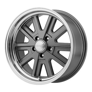 American Racing 427 Monocast Mag Gray Machined 17x8 Rims 5x4 5 0 Offset Each