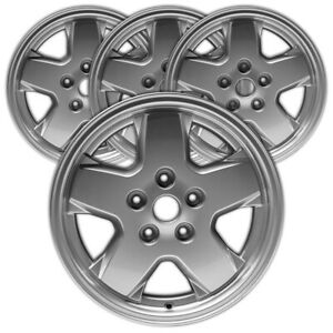 16 Silver Rim By Jte For 2002 2007 Jeep Liberty 16x7 set Of 4