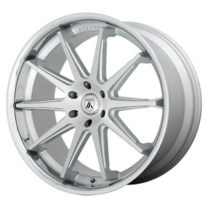 1 asanti Black Emperor Brushed Silver With Chrome Lip 22x10 Rims Gm Toy 6x5 5 15