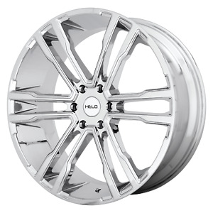 Fits Helo He918 Chrome 22x9 5 Rim Chevy Gm Toyota 6x5 5 15 Offset Each