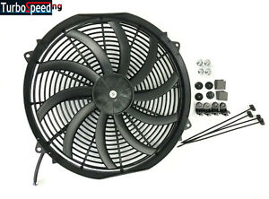 New 16 Slim Electric Radiator Fan Pusher Puller 120w High Power 3200cfm 2100rpm