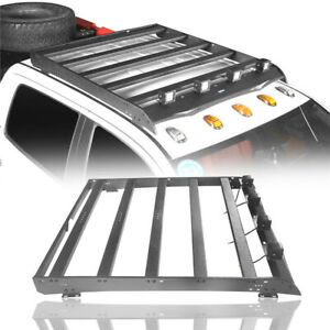 Crewmax Roof Rack W 4x Led Spotlights Textured Black For Toyota Tundra 14 20 4dr