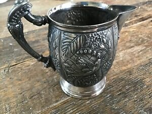 Antique Rogers Smith Co Silver Pitcher 4 75