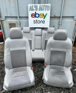 12 14 Toyota Camry Seats Gray Leather Suede Power Hybrid Full Set Oem