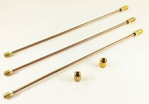 3 16 Copper Nickel Brake Lines 8 Long With Inverted Flare 3 8 24 Fittings