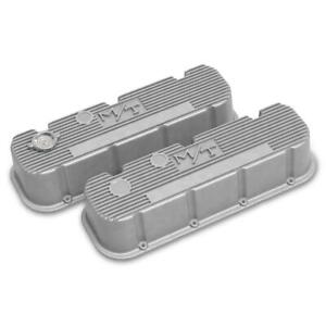 Holley 241 150 Tall M T Valve Covers Bbc Engines Natural Cast